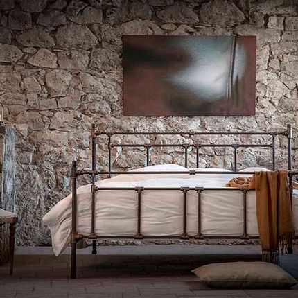 Beds - Industrial iron bed of blacksmith style - Model Armonia - VOLCANO - HANDMADE IRON BEDS