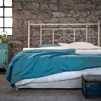 Beds - Industrial Style Handmade iron bed - Model Thalia - VOLCANO - HANDMADE IRON BEDS