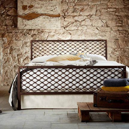 Beds - Industrial style Handmade iron bed - Model Dimitra - VOLCANO - HANDMADE IRON BEDS