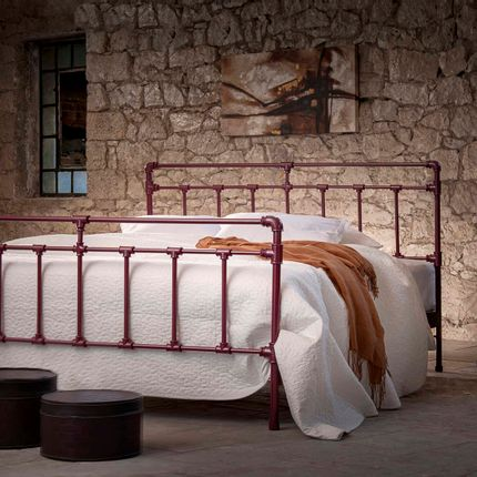 Lits - Industrial desing Handmade iron bed - Model Iris - VOLCANO - HANDMADE IRON BEDS