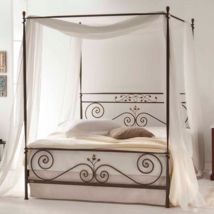 Lits - in timeless form Handmade iron bed  - Model Nefely Sky - VOLCANO - HANDMADE IRON BEDS