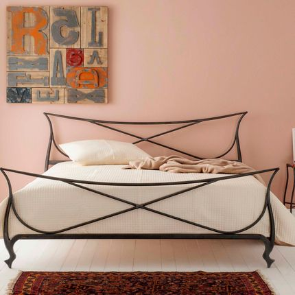 Beds -  minimalist version Handmade iron bed  - Model Venetia - VOLCANO - HANDMADE IRON BEDS