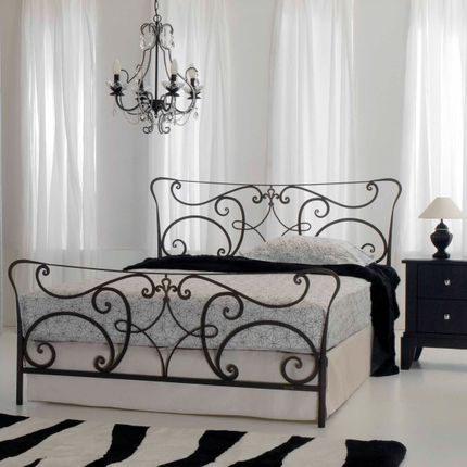 Beds - art nouveau style Handmade iron bed  - Model Norm - VOLCANO - HANDMADE IRON BEDS