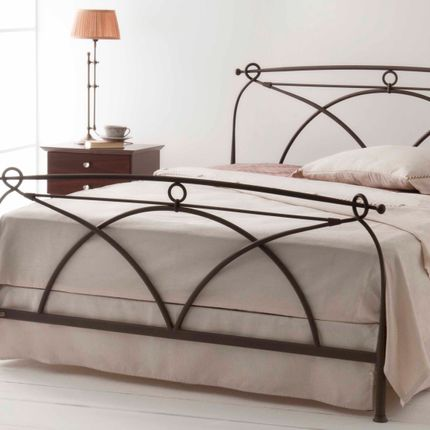 Beds - Minimalist handmade iron bed - Model Anita - VOLCANO - HANDMADE IRON BEDS