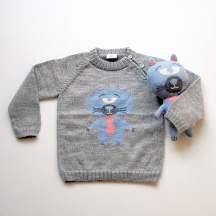Toys - HUGO the cat - sweater & toy - SOL DE MAYO