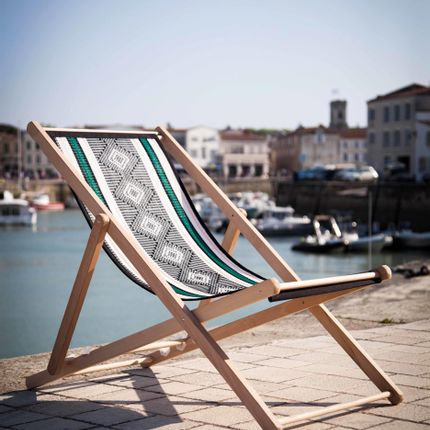 Cushions - DECKCHAIRS, CUSHIONS, INDOOR & OUTDOOR PLACEMAT MADE OF RECYCLED BRAIDED FIBRE - ALMADIE