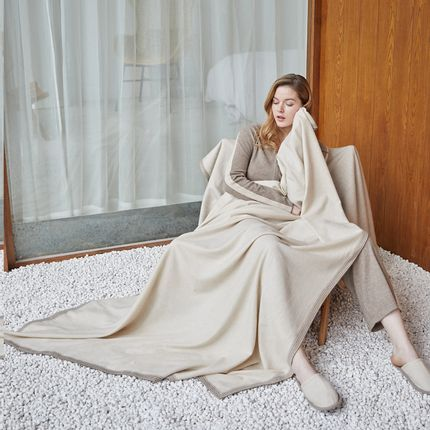 Homewear -  Large pure cashmere blanket / throw - SANDRIVER CASHMERE