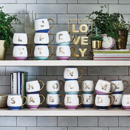 Mugs - Library Monogram Mugs - BOMBAY DUCK