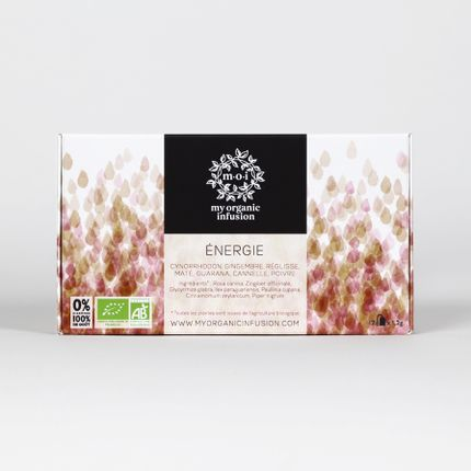 Coffee / tea - Energy tea-bags box - MY ORGANIC INFUSION
