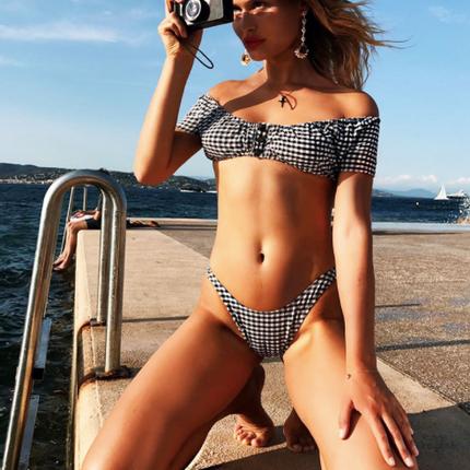 Ready-to-wear - St Tropez Vichy Bikini - BLEU DE VOUS