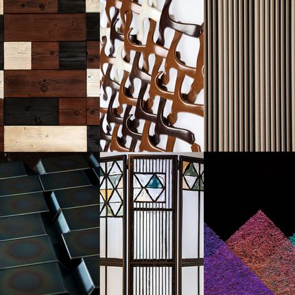 Wall coverings - Imaginative architectural materials, collaboration between Japanese traditional craft skills and modern technological innovations. - IMAGINATIVE MATERIALS