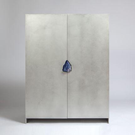 Wardrobe - Pierre De Valck: cabinet with stone - PIERRE DE VALCK