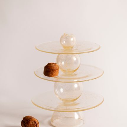 Platter, bowls - Particules élémentaires (Elementary Particles) - Cake stand - DRAGONFLY