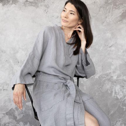 Homewear - Linen Bath Robe Waffle  - LINENME