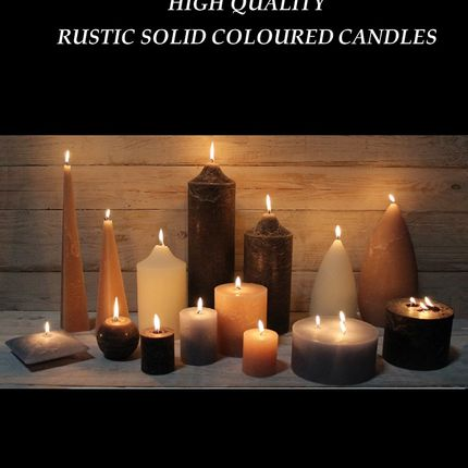 Gift - Coloured through Rustic Candles - HOUSE OF RUSTIC APS