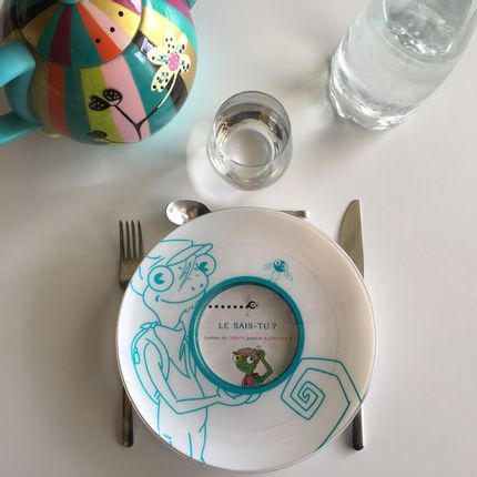 Everyday plates - Educational Plate+Discovery Game Cards - from 8 years - LE CAMELEON DINE