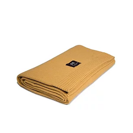 Travel accessories / suitcase - Eco-designed Wool Blanket Mustard - LA MAISON DE LA MAILLE