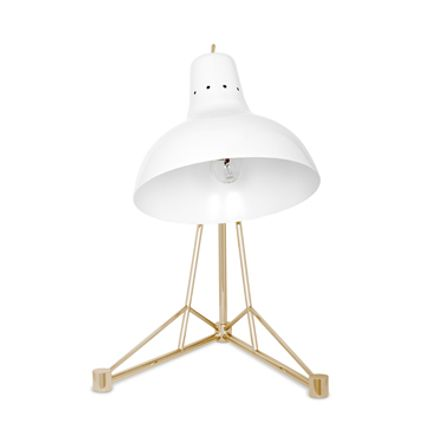 Lampes de table - Diana Table Lamp White Gold - CIRCU