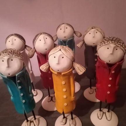 Sculptures / statuettes / miniatures - Les Elégantes - BLEU CALADE