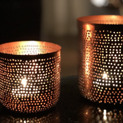 Candlesticks / candle holders - Maxi tealight filigree - MAISON ZOE
