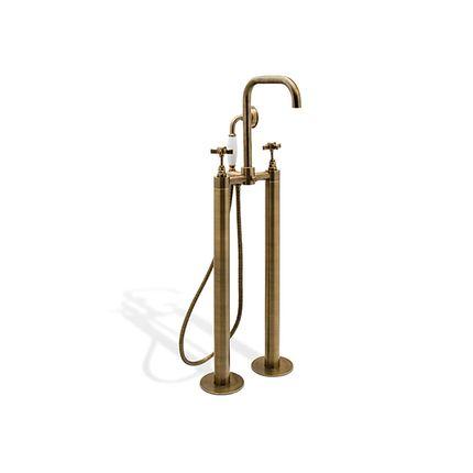 Bathtubs - Bourgeois II Mounting Floor Mixer tap - MAISON VALENTINA