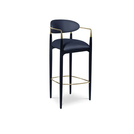 Chairs - Nahéma Bar Stool - COVET HOUSE