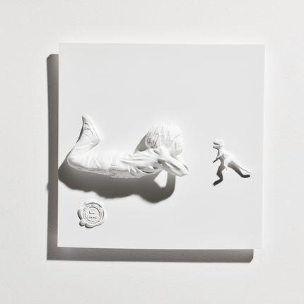 Décoration murale - Tableau Résine Boy & the Dino - BLOOP
