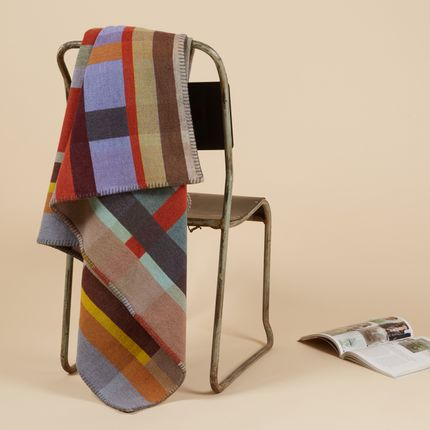 Throw blankets - Lambswool Block Throws - WALLACE SEWELL