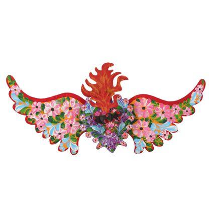 Wall decoration - Guirnalda Espinado Flores 3D - PINK PAMPAS