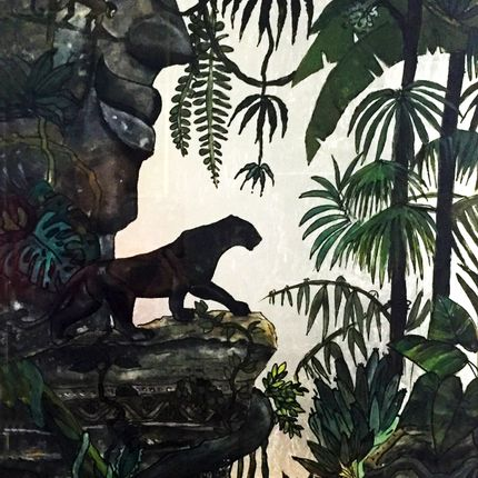 Wall decoration - BLACK PANTHER - ERIKA SELLIER CREATIONS