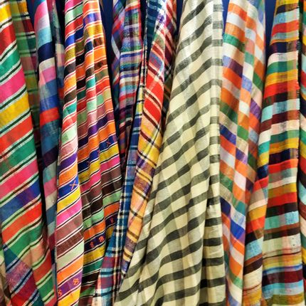 Plaids - couvertures/plaids/coussins/poufs - MARTINE GORON