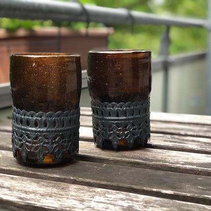 Bougeoirs / photophores - Alexa Recycled Glass Cup - MAISON ZOE