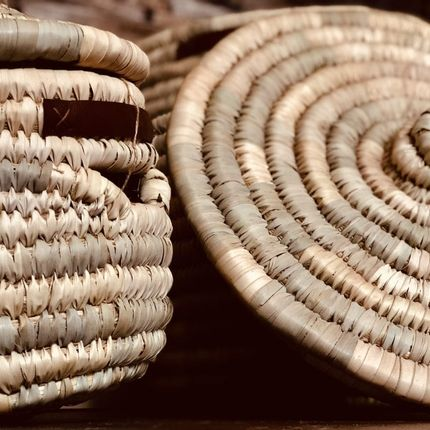 Rangements - Round Palm Basket Set of 3 - MAISON ZOE