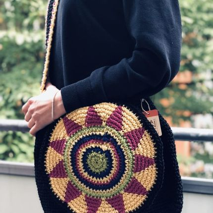 Bags / totes - Monac Crochet Shoulder Bag - MAISON ZOE
