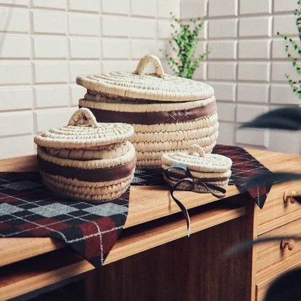 Storage - Set of 3 Oval Baskets - MAISON ZOE