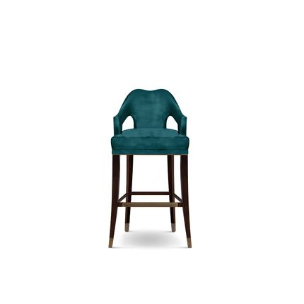Chairs - Nº20 Velvet Bar Stool  - COVET HOUSE