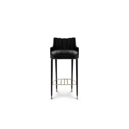 Chaises - Tabouret de bar prune - COVET HOUSE