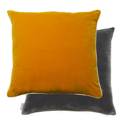 Cushions - cushion with piping 45x45 _ velvet bicolor down filled - PONTOGLIO 1883
