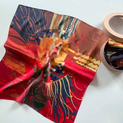 Foulards / écharpes - Écharpes en soie édition limitée «Islands» (Art & Design par Kristina Gaidamaka) - UKRAINIAN DESIGN BRANDS