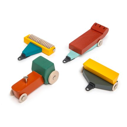 Jouets - Duotone Car #7 - Tractor Set - IKONIC