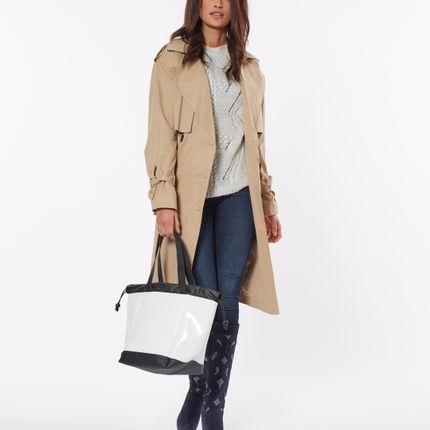 Bags / totes - BIG BOAT BAG VARNISH WHITE M - DALZOTTO