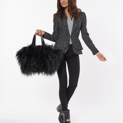 Bags / totes - Love Affair – black fur - DALZOTTO