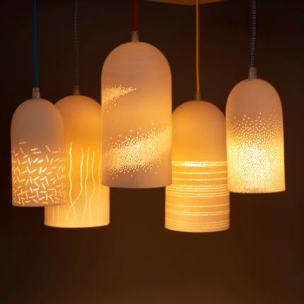 Hanging lights - porcelain suspensions - JEAN-MARC FONDIMARE