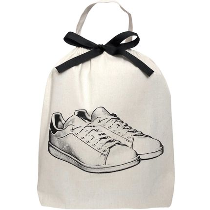 Travel accessories / suitcase - White Flat Sandals Shoe Bag - BAG-ALL