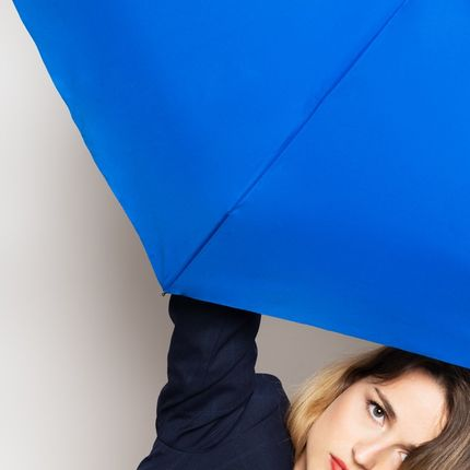 Leather goods - Royal Blue folding micro-umbrella – MARGUERITE - ANATOLE