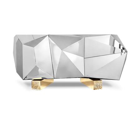 Console tables - Diamond Pyrite Sideboard - COVET HOUSE
