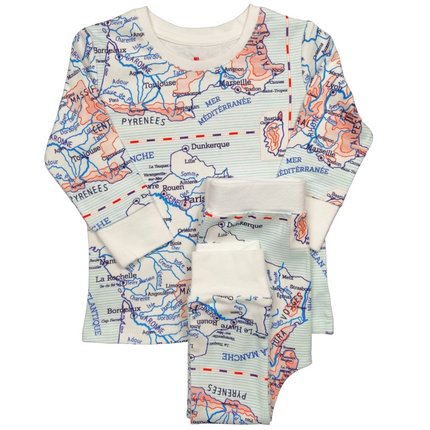 Kids accessories - Pyjama - map - 1 Piece and 2 Pieces - CHANGE MA COUCHE