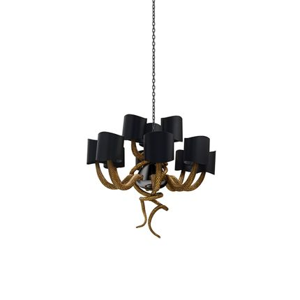 Ceiling lights - Serpentine Chandelier  - COVET HOUSE