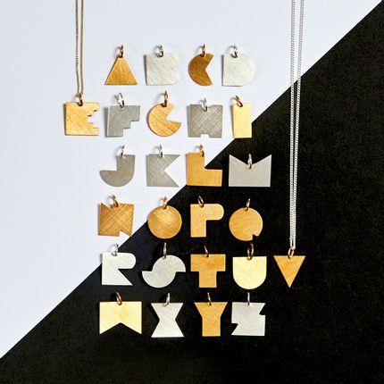 Jewelry - BAUHAUS Alphabet Necklace - DARKROOM