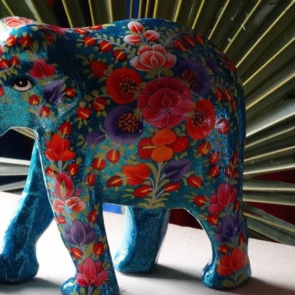 Decorative objects - Paper Mache Elephant - PECHAAN